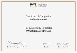 AWS Database Offerings