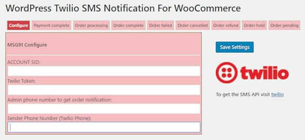 02 woocommerce twilio sms notifications