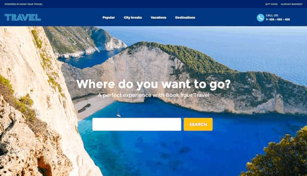 book your travel - online booking wordpress theme 01