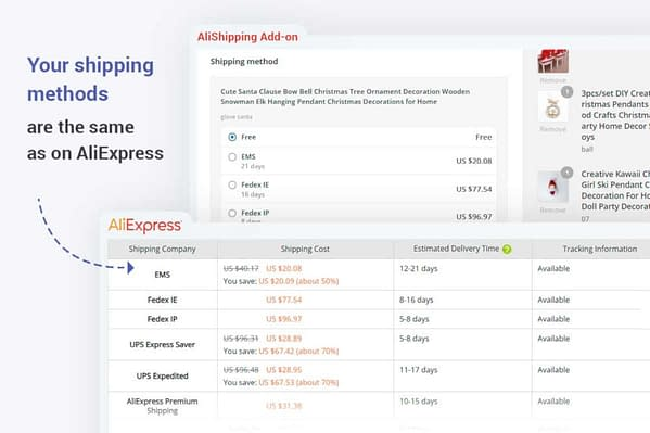 alishipping plugin - aliexpress shipping options 02