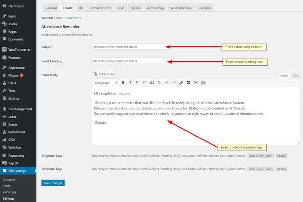 wordpress attendance management system 01