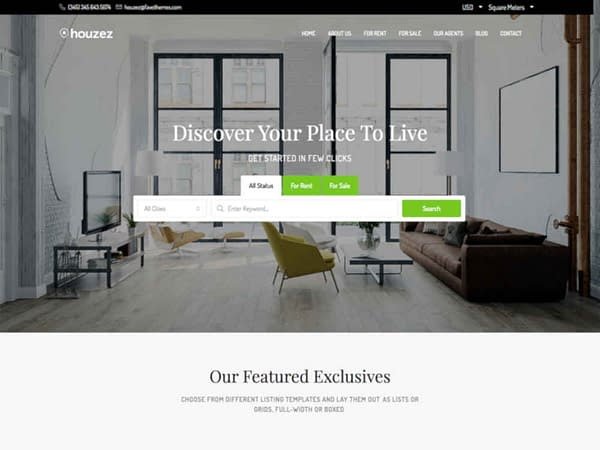 09 real estate wordpress theme elementor