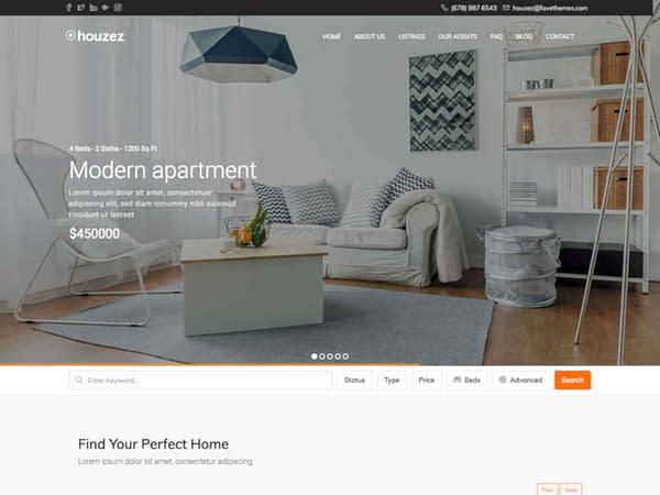 11 real estate wordpress theme elementor