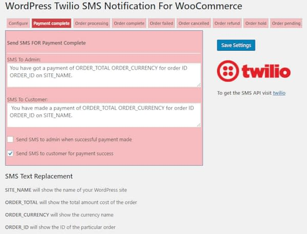 05 woocommerce sms notifications