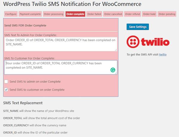 03 woocommerce twilio sms notifications