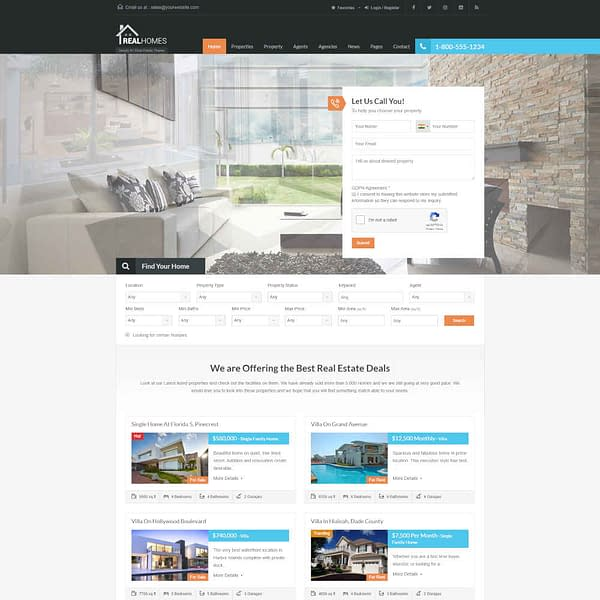 real homes wordpress theme real estate wordpress theme 01