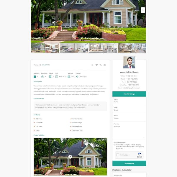 real estate rental wordpress theme 01