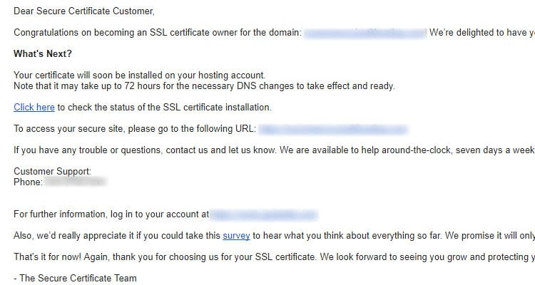 Fig 03 : Install SSL Certificate for Managed WordPress