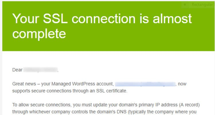 Fig 04 : Install SSL Certificate for Managed WordPress