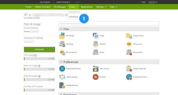 Fig 11 : How to Create new email account using cPanel