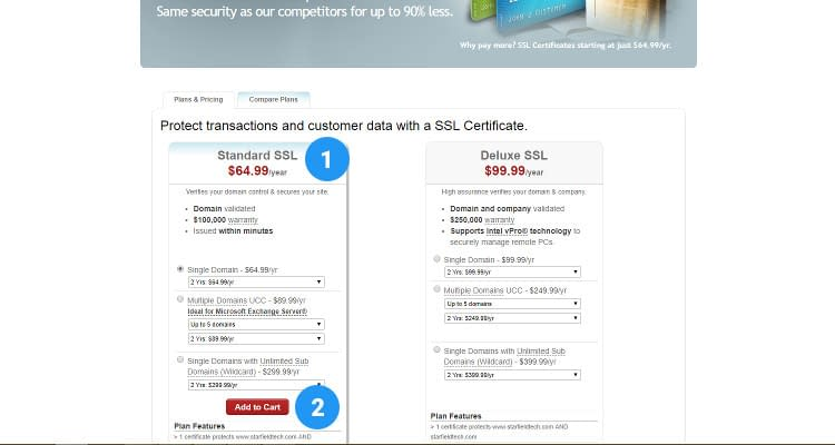 Fig. 01: Purchase SSL Certificate