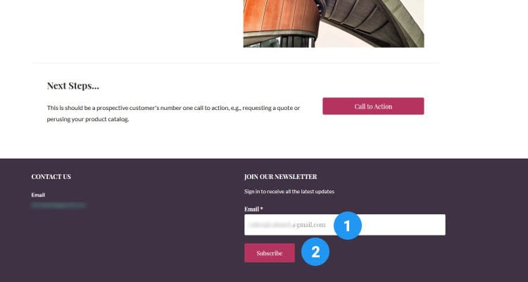 Fig. 02: Email Marketing - Configure WordPress Newsletter Widget