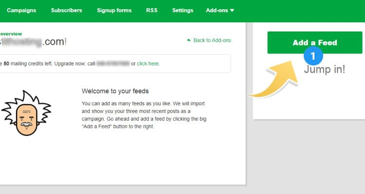 Fig. 03: Email Marketing - Create an eMail Campaign - RSS Feed