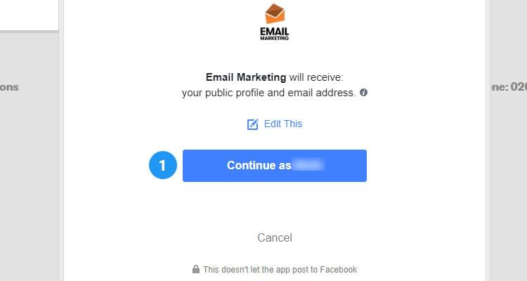 Fig. 04: Add Sign up form to Facebook page and capture leads
