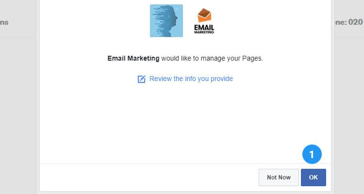 Fig. 05: Add Sign up form to Facebook page and capture leads