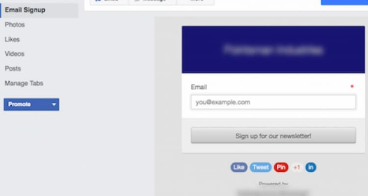 Fig. 08: Add Sign up form to Facebook page and capture leads