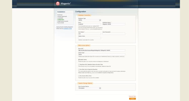 Fig. 03: How to install Magento 1.9.x in cPanel