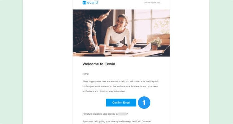 Fig. 04: How to start an Ecwid online store