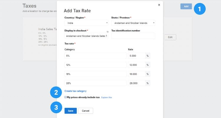 Fig. 02: How to configure Sales Tax