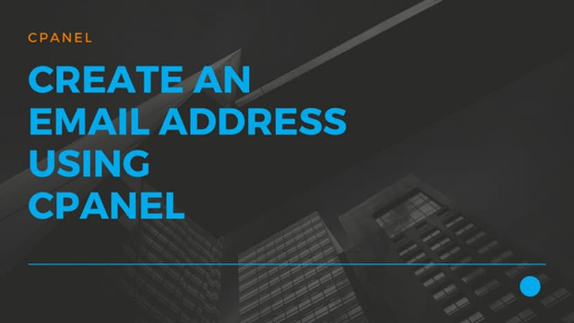 Create an EMail address using cPanel