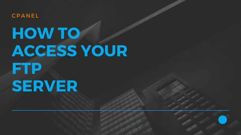 How to access your FTP server