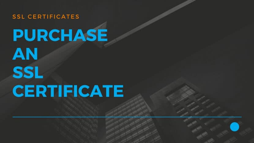 Purchase an SSL Certificate