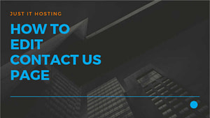 How to edit Contact Us page