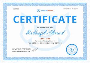 Wordpress Pro Certification - Rafeeqh Ahmed 25988