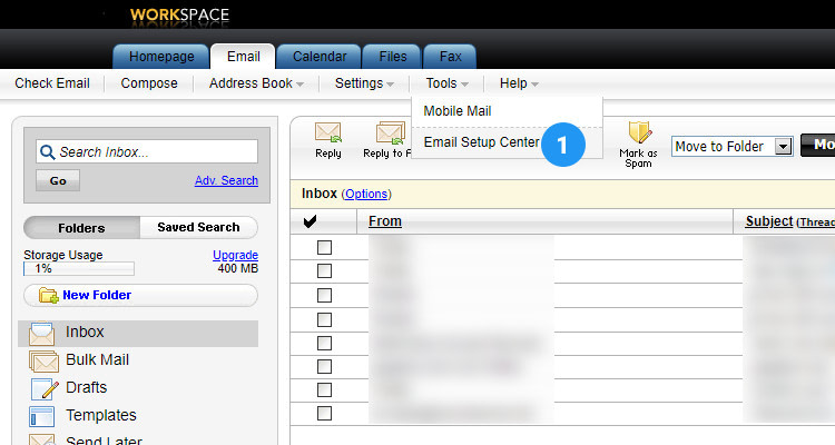 Fig : 05 Configure Email Client for Business Email