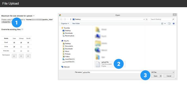 Fig 06 : How to upload files usnig cPanel