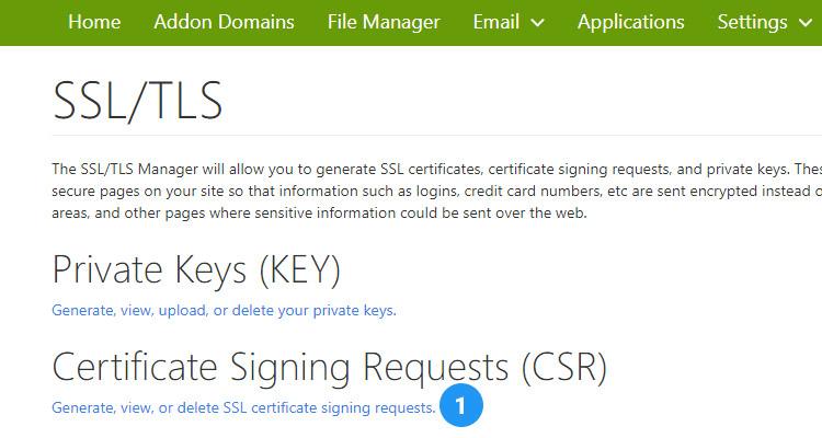 Fig. 04: Generate a Certificate Signing Request (CSR)