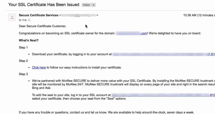 Fig. 06: Purchase SSL Certificate