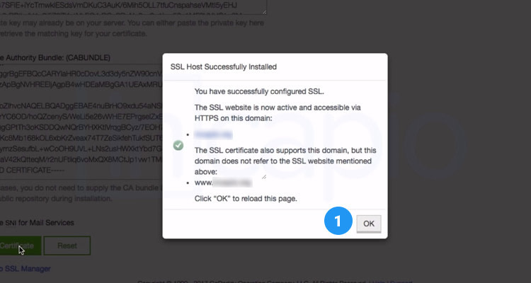 Fig. 08: Upload and Install your SSL Certificate