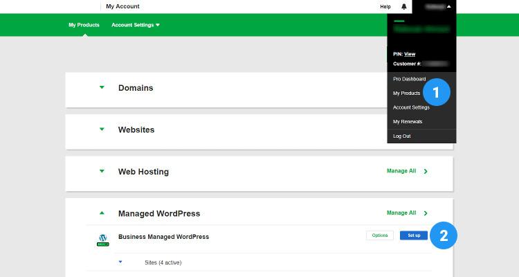 Fig 01 : Setup Managed WordPress Hosting