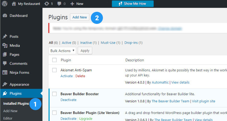 Fig. 01: Email Marketing - Install and Configure WordPress Newsletter Plugin