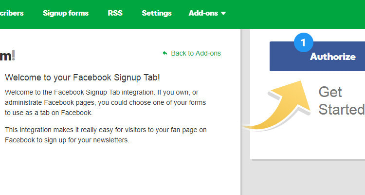 Fig. 03: Add Sign up form to Facebook page and capture leads