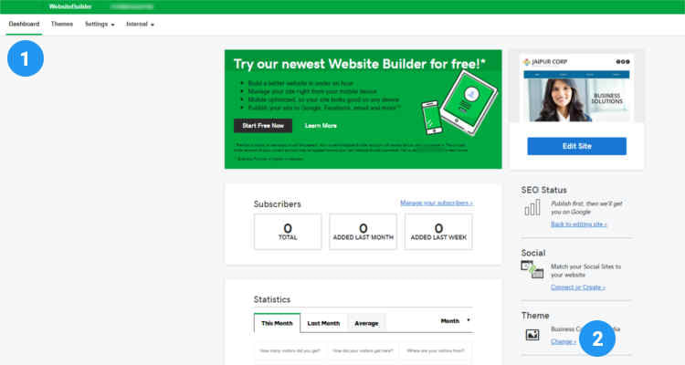 Fig. 01: How to edit a webpage using website builder