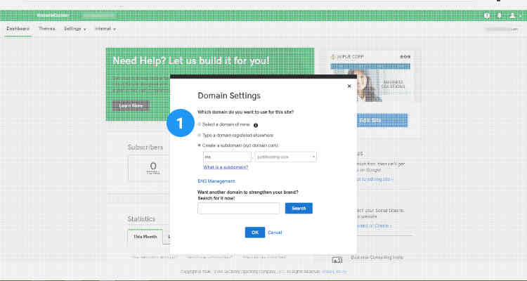 Fig. 04: How to add social media links and seo meta tags using website builder