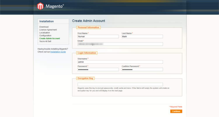 Fig. 04: How to install Magento 1.9.x in cPanel