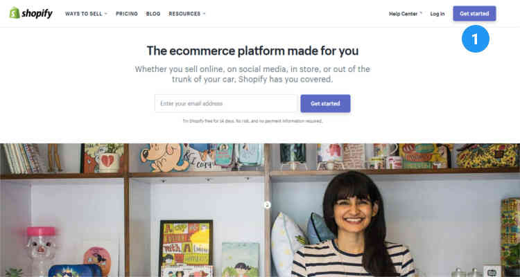 Fig. 01: How to start a Shopify store