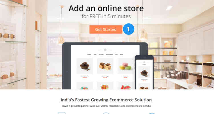 Fig. 01: How to start an Ecwid online store