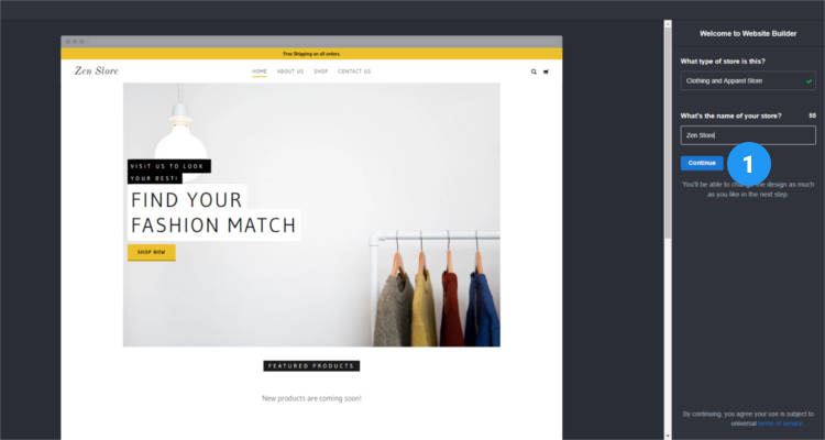 Fig. 03: How to start your own Online Store - First Time Setup