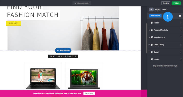 Homepage Sections Storefront 01