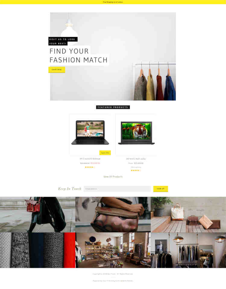 Homepage Sections Storefront 03
